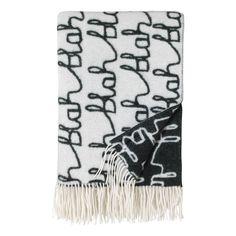 Donna Wilson Blah Blah Blanket 95x62cm Schwarz