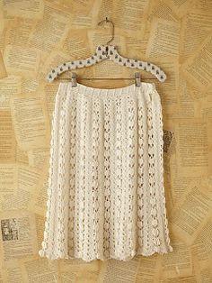 Crochet skirt Roupas lindas em crochê...