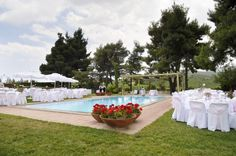 Our experienced staff can make your wedding reception unforgettable and unique... Once-in-a lifetime experience!! -at Kokotos Estate. http://www.rbathenspark.com/