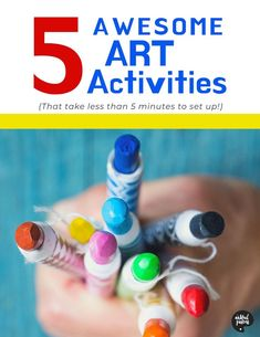 5 favorite kids' art activities that are surprisingly simple and open-ended, yet are especially great at fostering creativity and engagement for a range of ages. Art Activities For Kids, Creative Activities, Creative Kids, Painting For Kids, Drawing For Kids, Art For Kids, Watercolor Projects, Math Art, Fun Learning
