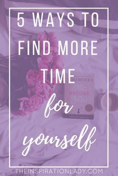 "If you feel like you never have time for yourself, here are 5 easy ways that you can fit ""me time"" and self-care into a busy schedule!"