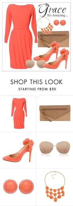 """""""Untitled #458"""" by chanlee-luv ❤ liked on Polyvore featuring Lanvin, Wilsons Leather, Carven, Victoria Beckham and 1st & Gorgeous by Carolee"""