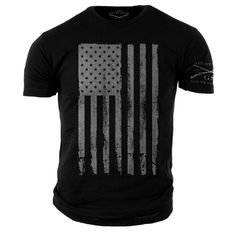 America T-Shirt Black- Grunt Style Military Men's Graphic Tee Shirt