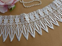 Artículos similares a Vintage victorian lace trim in white with dangle fringe trim for bridal, wedding gown, jewelry or altered couture en Etsy Victorian Lace, Altered Couture, Fringe Trim, Textile Patterns, Handicraft, Lace Trim, Wedding Gowns, Crochet Necklace, Dangles