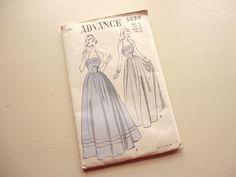vintage advance pattern 5029 misses formal by vintagetouchtoo, $8.00
