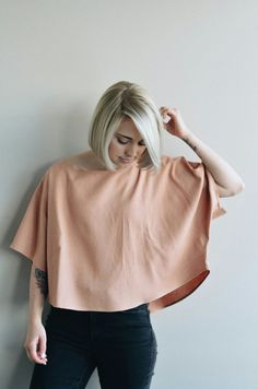 THE BLANK CANVAS TOP in BLUSH