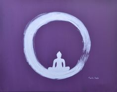 "For Sale: The Enso Budha of Zen by Martha Seale   $100   20""w 16""h   Original Art   https://www.vangoart.co/marthasealeart/the-enso-budha-of-zen @VangoArt"