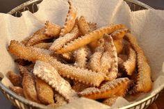 "Chiacchiere (Fried ""Ribbons"")   Memorie di Angelina   Italian (Sicilian Dessert popular for Carnivale"