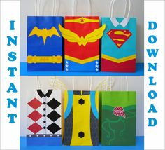 DC Super Hero Girls Party Favor Bags/ pic only Batgirl, Supergirl, 6th Birthday Parties, Girl Birthday, Birthday Ideas, Summer Birthday, Girl Superhero Party, Batman Party, Super Heroine