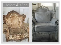 """Before and After from the blog """"When Decorating"""""""