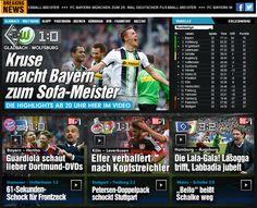 lol, I didnt watch, no wonder late goal, in the 90th minute lol+Gladbach won like expected, coz people from Gladbach nice to me lol - Viel hatte sie nicht zu berichten: die Borussia überlegen, aber Herrmann (21.) und Kruse (62./76.) vergaben gute Chancen knapp. Kruse macht's besser, schießt seine Gladbacher zum 1:0 (90.). http://www.bild.de/bundesliga/1-liga/saison-2014-2015/spielbericht-gladbach-gegen-vfl-wolfsburg-am-30-Spieltag-36650384.bild.html
