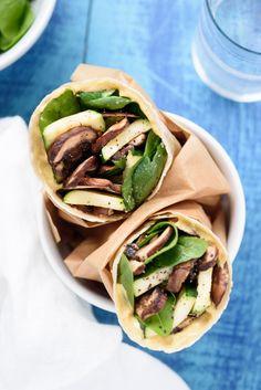 Gluten Free Zucchini Veggie Wrap #glutenfree #veggiewrap