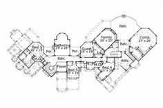 Luxury Style House Plans - 11182 Square Foot Home , 2 Story, 5 Bedroom and 5 Bath, 2 Garage Stalls by Monster House Plans - Plan 19-217