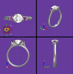 and  a unique and an original bespoke engagement ring is created