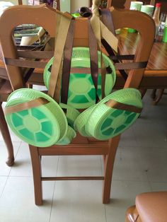 So little time, so much to say. : Ninja Turtle Shell's for TMNT Birthday Party!
