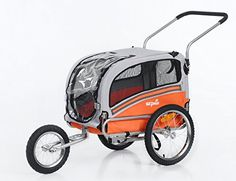 Dog Bicycle Trailers - Sepnine 2 in1 pet dog bike trailer bicycle trailer and stroller jogger 20303 OrangeGrey -- More info could be found at the image url. (This is an Amazon affiliate link)