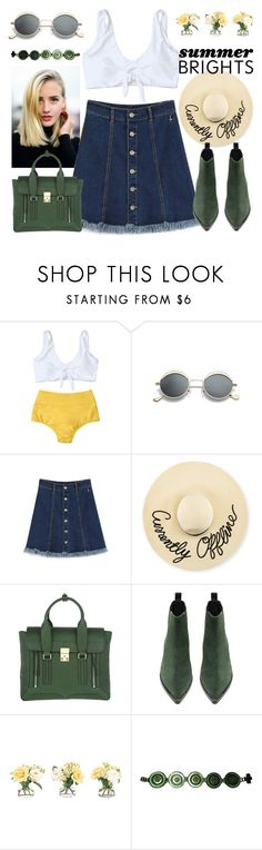 """""""Boots in summer"""" by jiabao-krohn ❤ liked on Polyvore featuring Eugenia Kim, 3.1 Phillip Lim, Acne Studios, NDI and Versace"""