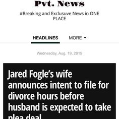 #SubwayJared #JaredFogle Pvt. News is OUT  http://ift.tt/1CeNjph Google #PvtNews
