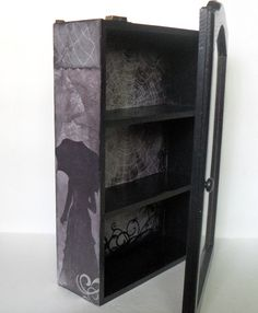 Gothic Display Cabinet  Gothic Home Decor by NacreousAlchemy