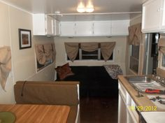 When it was all said and done the couple had spent over 4 months completing this travel trailer remodel. Description from doityourselfrv.com. I searched for this on bing.com/images