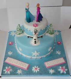 Children's Birthday Cakes - Frozen cake.  I think this would be easy to make.