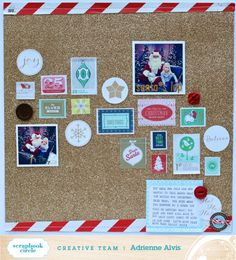 Layout by Adrienne Alvis using Scrapbook Circle All is Bright December 2013 Kit #christmas #scrapbooking