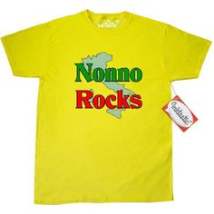 Inktastic Nonno (Italian Grandfather) Rocks T-Shirt Italian Grandfather Family Pride Nonna Nonni Grandmother Grandparents Women Gifts Mens Adult Clothing Apparel Tees T-shirts, Size: Small, Yellow