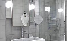 Salle d'eau d'une Junior suite, avec son agréable douche à l'Italienne...