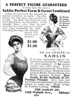 """Edwardian Bust Improver """"Perfect Form"""""""