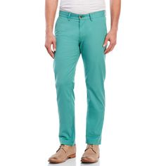 Ben Sherman Slim Stretch Chino Pants ($40) ❤ liked on Polyvore featuring men's fashion, men's clothing, men's pants, men's casual pants, green, mens stretch pants, mens zipper pants, mens zip off pants, mens slim pants and mens green pants