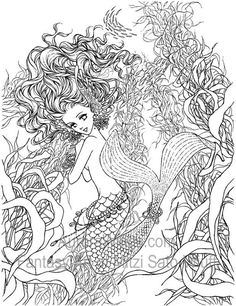 Artist Mitzi Sato Wiuff Mermaid Myth Mythical Mystical Legend