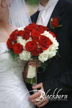 Wedding Bouquet Red and White Roses  www.susanblackburn.biz