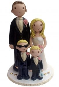 Personalised cake topper. I like the idea of having rebecca on top of the cake too!