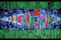 Neil Gibson poster  Sub Dimensional Matrix 2005 by PiNeilCreations