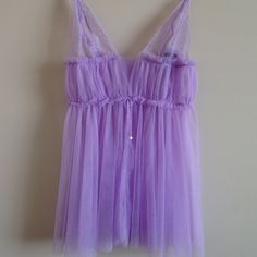 Designer Collection Lavender Babydoll. Price firm So freaking cute! Mesh with crystals on the cups. No panties. Price is firm. Victoria's Secret Intimates & Sleepwear Chemises & Slips