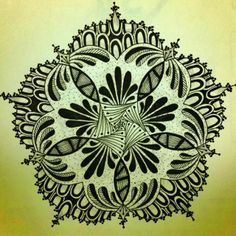 pentagon flowers with vines for fabric paints - Google Search