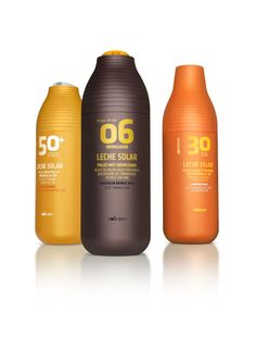 Sun cream packaging developed for RNB Laboratories and sold in Mercadona supermarkets.