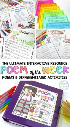 This ultimate interactive poem of the week resource will get your students reading and writing poetry all week long!