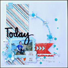 Let Your Dreams Set Sail with Rhonda ! Hi there Quick Quotes friends!  It's Rhonda here today to host the blog for you. I have a project to share that features pieces from the April Club Q kits along with a few other Quick Quotes coordinating elements and PowderPuff Chalk Inks of course.