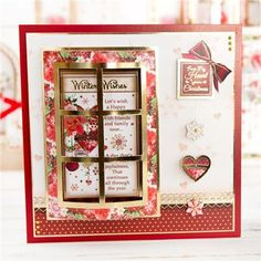Hunkydory Window to the Heart Piece Collection- Includes Card Collection, Inserts and Second Little Book of Festive Poetry Hunkydory Crafts, Create And Craft, Heart Cards, Little Books, Festive, Christmas Cards, Hunky Dory, Poetry, Window