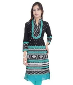 be68e5f4cfa71 Palakh Black Cotton Kurti Price in India - Buy Palakh Black Cotton Kurti  Online at Snapdeal