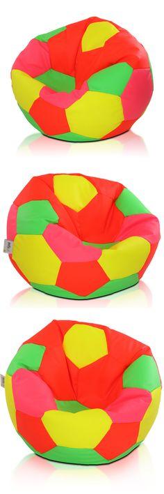 Sport 90l Sitzsack Fussball Bodenkissen Beanbag Kindermöbel Weltmeisterschaft