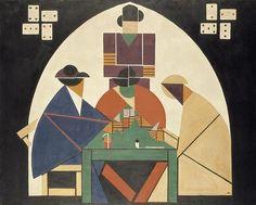 Theo van Doesburg, De kaartspelers, 1916 - 1917, olieverf op doek, 117 x 147.5 cm, Gemeentemuseum Den Haag http://www.artsalonholland.nl/moderne-kunst/theo-van-doesburg-de-kaartspelers