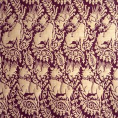 Heraldic beasts Originally a 14th century Lucesse silk design