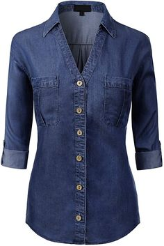 Looking for MixMatchy Women's Long Sleeve Solid Split Neck Tencel Button Down Shirt Blouse ? Check out our picks for the MixMatchy Women's Long Sleeve Solid Split Neck Tencel Button Down Shirt Blouse from the popular stores - all in one. Girls Fashion Clothes, Fashion Outfits, Fashion Women, Shirt Blouses, Shirts, Kurta Designs, Blouse Online, Jean Outfits, Denim Fashion