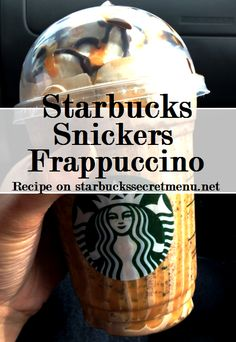Starbucks Secret Menu Snickers Frappuccino! Recipe here: http://starbuckssecretmenu.net/starbucks-secret-menu-caramel-and-nut-chocolate-bar-frappuccino/