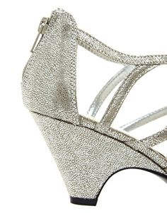 new look sun low silver wedge sandals
