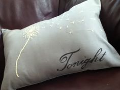 Tonight/Not Tonight Throw Pillow.  Perfect for a bridal shower gift.