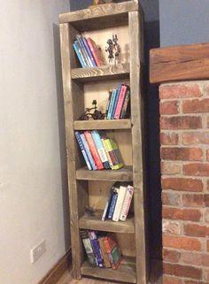 Handmade Solid Reclaimed Chunky Beam Bookcase By Hardybarnreloved