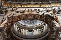 Vatican - interior of famous Saint Peter's Basilica. Beautiful church.